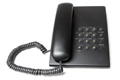 Black phone. On a white background Royalty Free Stock Photo