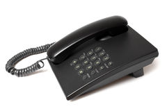 Black phone. On white background Royalty Free Stock Photos