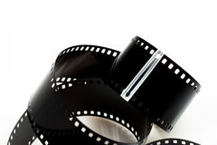 Black photo film isolated Royalty Free Stock Images