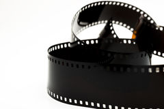 Black photo film isolated Royalty Free Stock Image
