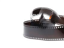 Black photo film isolated on white background Royalty Free Stock Images
