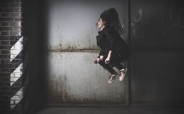 Black, Photograph, Darkness, Girl royalty free stock photo