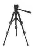 Black photographic tripod Stock Photo