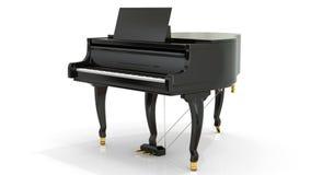 Black piano against white Stock Image