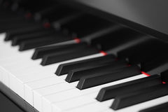 Black piano close-up. Background royalty free stock images