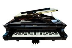 Black piano closeup Stock Photography