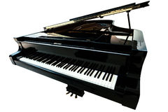 Black piano closeup Stock Images
