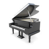 Black piano Stock Image