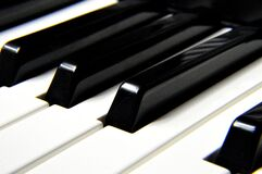 Black Piano Minor Keys Stock Photography