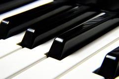 Black Piano Minor Keys stock photography