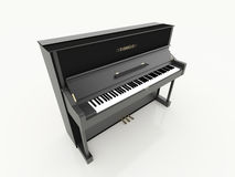 Black piano rendered Royalty Free Stock Images