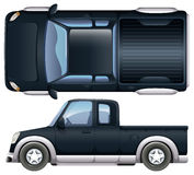 A black pickup Royalty Free Stock Images