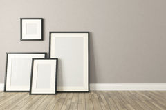 Black picture clear frames decor, background, template design Stock Image
