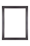 Black Picture Frame. Empty black picture frame isolated on white