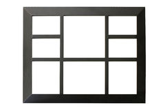 Black picture frame isolated on white Stock Photography