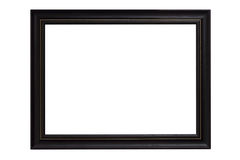 Black picture frame isolated on white background. The Black picture frame isolated on white background Royalty Free Stock Photos
