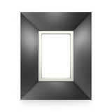 Black picture frame isolated on white Stock Image