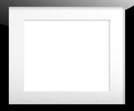 Black picture frame with passe partout. Black picture frame with passepartout isolated on white Royalty Free Stock Image