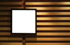 Black picture frame on wall. Royalty Free Stock Images
