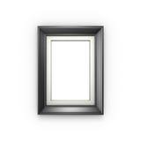 Black picture frame  on white Stock Photo