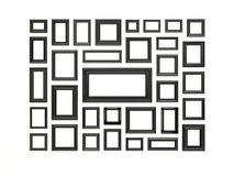 Black picture frames. Stock Images