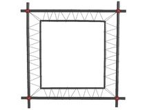 Black picture frames , isolated Royalty Free Stock Photo