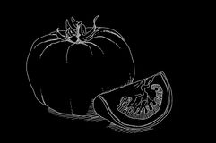 Black picture of tomato Royalty Free Stock Image