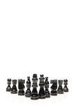 Black pieces of chess Stock Image