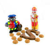 Black piet, Sinterklaas with sinterklaas candy Royalty Free Stock Photography