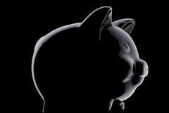 Black piggy bank Stock Photos