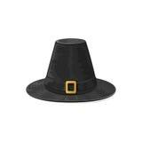 Black pilgrim hat Stock Photography
