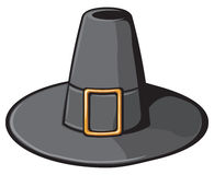 Black pilgrim hat Stock Images