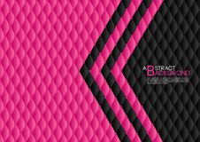 Black and pink abstract background vector illustration, cover template layout, business flyer, Leather texture luxury. Can be used in annual report cover design Royalty Free Stock Photography