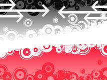 Black and Pink Arrows Royalty Free Stock Photo