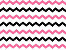Black and Pink Chevron Background Royalty Free Stock Images