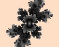 Black pink fractal, flowery elegant sparkling contrasts lights, texture, abstract background. Black pink contrasts flowery sparkling diamond shapes fantasy stock illustration