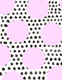 Black and pink dotted background on white vector illustration