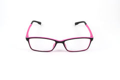 Black and pink eye plastic glasses Stock Photos