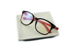 Black pink Eyeglasses Stock Photos
