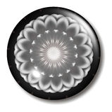 Black Pink Flower Button Orb. An illustration of a pink white and black circular button orb with shadow for use in website design, presentation, desktop Royalty Free Stock Images