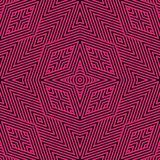 Black and pink geometric lines seamless pattern. Vector linear background. Colorful geometric lines seamless pattern. Modern linear black and magenta background royalty free illustration