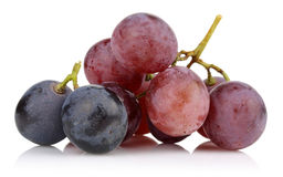 Black and pink grapes  Stock Photo