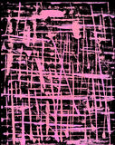 Black and Pink Grunge Background. Black Background overlaid with pink lines in a grunge style, done with a palette knife and colored with computer Stock Photo