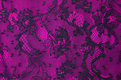 Black and pink lace background Royalty Free Stock Photos