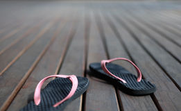 Black and pink sandal Royalty Free Stock Images