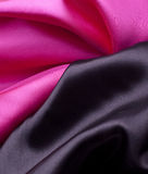 Black with pink satin stock photo