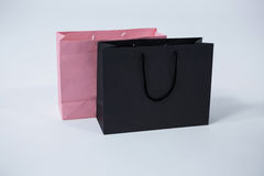Black and pink shopping bags Stock Image