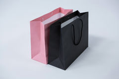 Black and pink shopping bags Royalty Free Stock Photos
