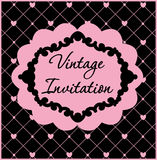 Black and pink vintage template.Vector illustration Royalty Free Stock Image