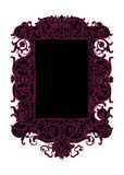 Black and pink vintage vector scroll swirl frame. High resolution large vector frame - black and pink funky swirly scrolly style Stock Images
